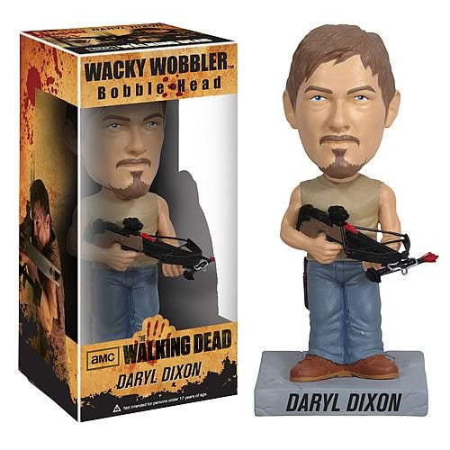 Funko The Walking Dead Daryl Dixon Collectible Bobblehead Wacky Bobble Nodder