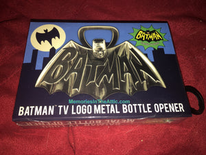 "Batman Superhero 1966 TV Series Logo Metal Bottle Opener 4"" Barry Bradfield"