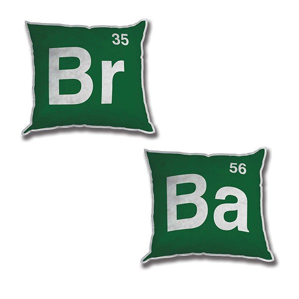"Breaking Bad Heisenberg BR BA Scientific Periodic Table 12"" Pillows Mezco TV Show"