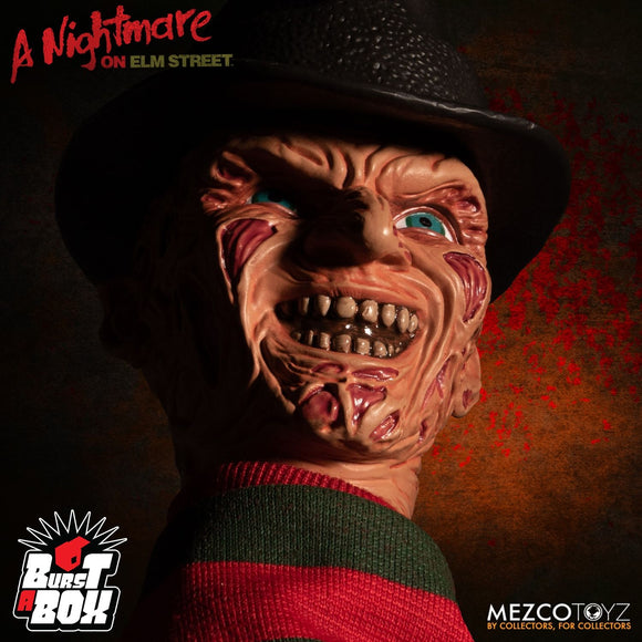 Mezco Toyz Burst A Box Nightmare On Elm Street Freddy Krueger Jack In The Box