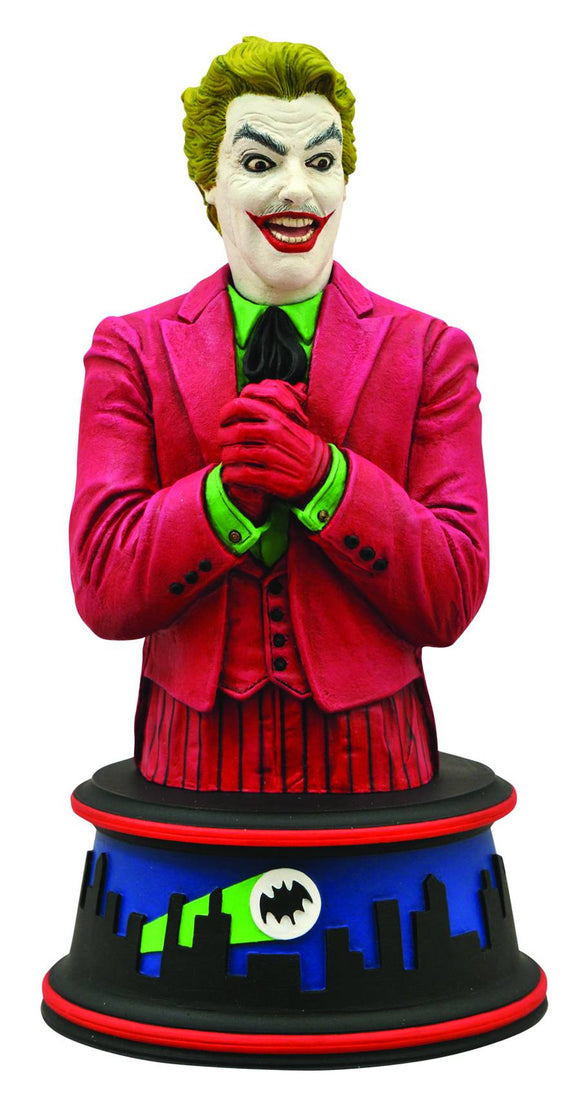 DC Villan The Joker 1966 TV Series Batman Foe Resin Bust Cesar Romero 6