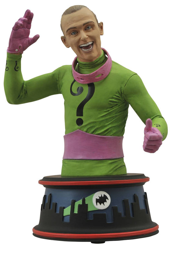 DC Comics Villan The Riddler 1966 TV Series Batman Foe Resin Bust Frank Gorshin 6