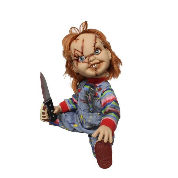 "15"" Childs Play Mega Scale Chucky Mezco Scarred Face Talking Doll"