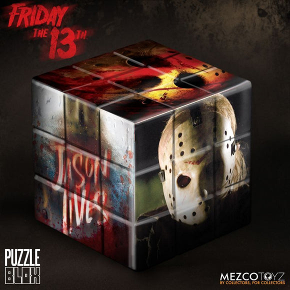 Mezco Friday The 13th Jason Vorhees Puzzle Blox Box Game Cube Movie Piece