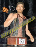 The Walking Dead Daryl Dixon Limited Ed 4500 Mini Bust Hand Painted Zombie Crossbows