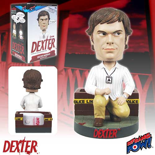 Dexter Morgan With Sound Keychain Bobble Head Wacky Wobbler Bif Bang Pow