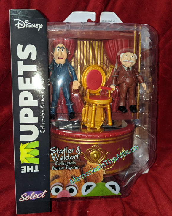 Diamond Select Disney The Muppets Statler and Waldorf Balcony Chairs 4-5.5