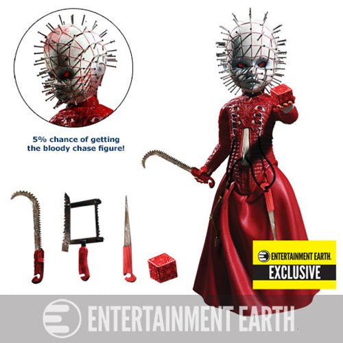 Exclusive Red Limited Living Dead Mezco Hellraiser High Priest Pinhead Cenobites Doll