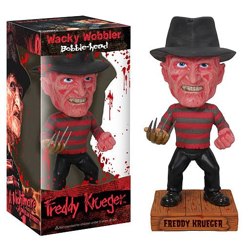 Funko Nightmare On Elmstreet Freddy Krueger Collectible Bobblehead Wacky Bobble Nodder