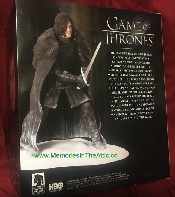 Game of Thrones Dark Horse HBO Jon Snow Figure With Sword 7