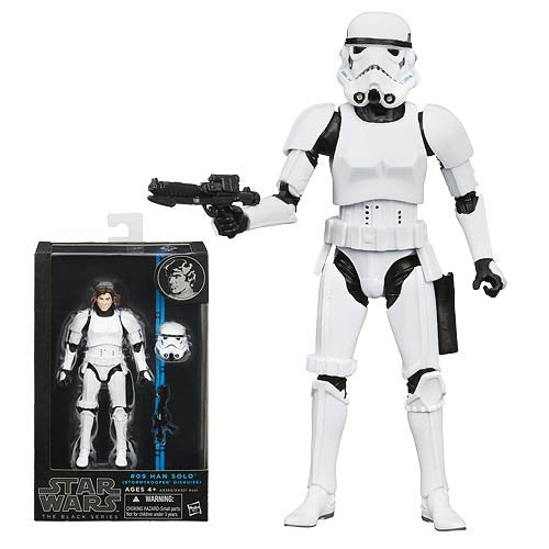 Hasbro Star Wars Han Solo Black 6 Action Figure Disguise Storm Trooper Suit Guns