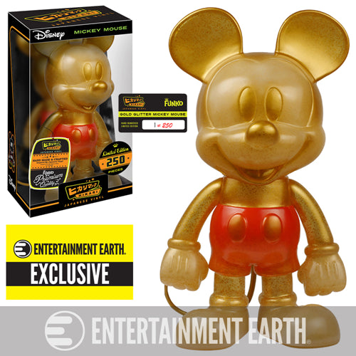 Mickey Mouse Gold Hikari Sofubi Vinyl Figure EE Exclusive 250 Made Limited Edition