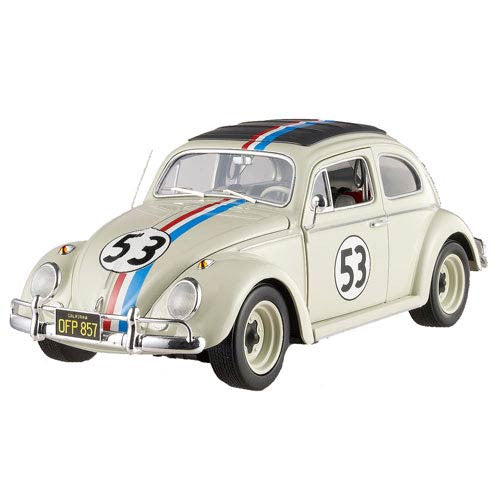 Hot Wheels Elite Herbie 53 1:18 Scale Die Cast 1962 VW Love Bug Car Go Bananas!