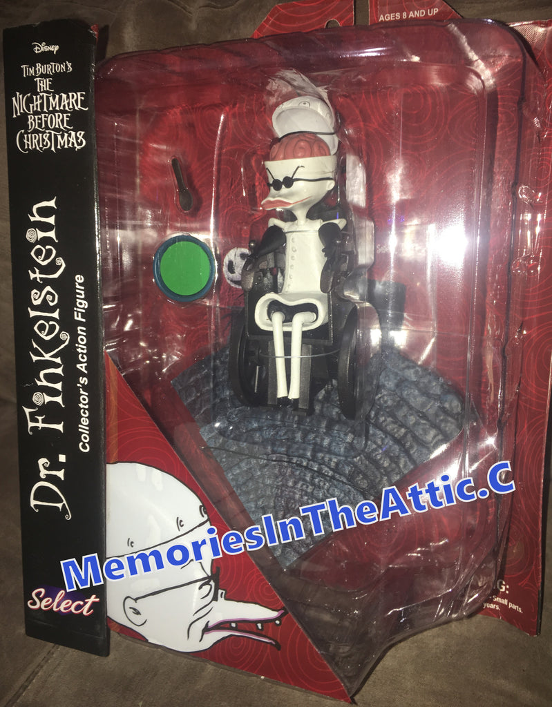 "Disney Nightmare Before Christmas DR FINKLESTEIN 6"" Action Figure Diamond Select Toys WheelChair S2"