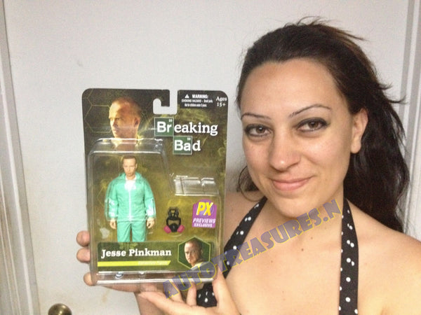 Breaking Bad Jesse Pinkman In Blue Haz-Mat Suit 6-Inch Action Figure Mezco Toyz Variant