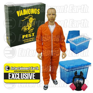 Breaking Bad Jesse Pinkman Orange Hazmat Figure EE Exclusive Mezco Figure