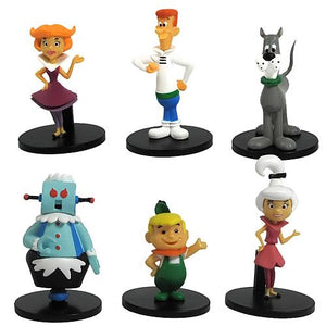 "Hanna Barbera The Jetson's 6  2"" Figure Set George Judy Elroy Astro Dog Rosie Jane Complete"