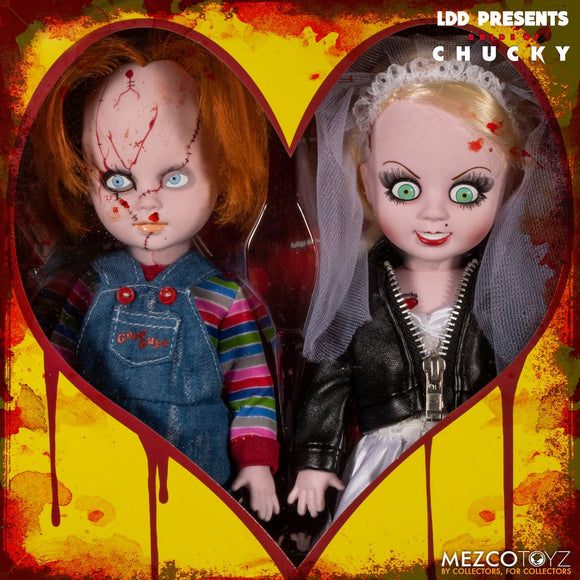 Living Dead Dolls Mezco Toyz Chucky Tiffany Bride Set 10