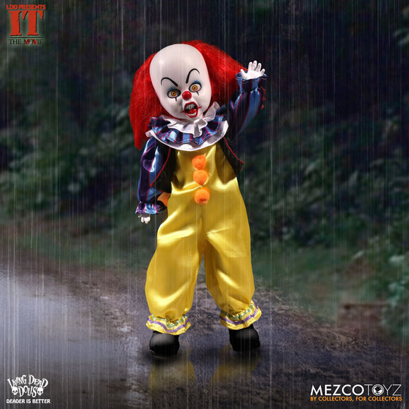 Living Dead Doll Mezco Pennywise IT Clown Doll Scary Stephen King LDD