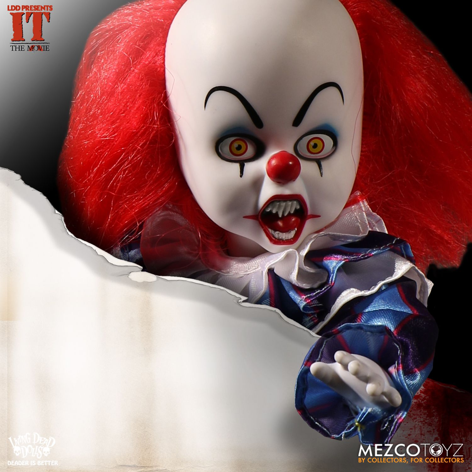 Living Dead Doll Mezco Pennywise IT Clown Doll Scary Stephen King
