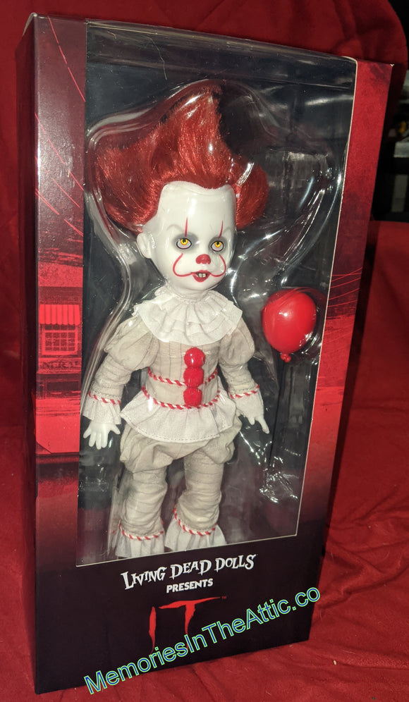 Living Dead Doll Mezco Pennywise IT Clown 2017 Doll Scary Stephen King LDD