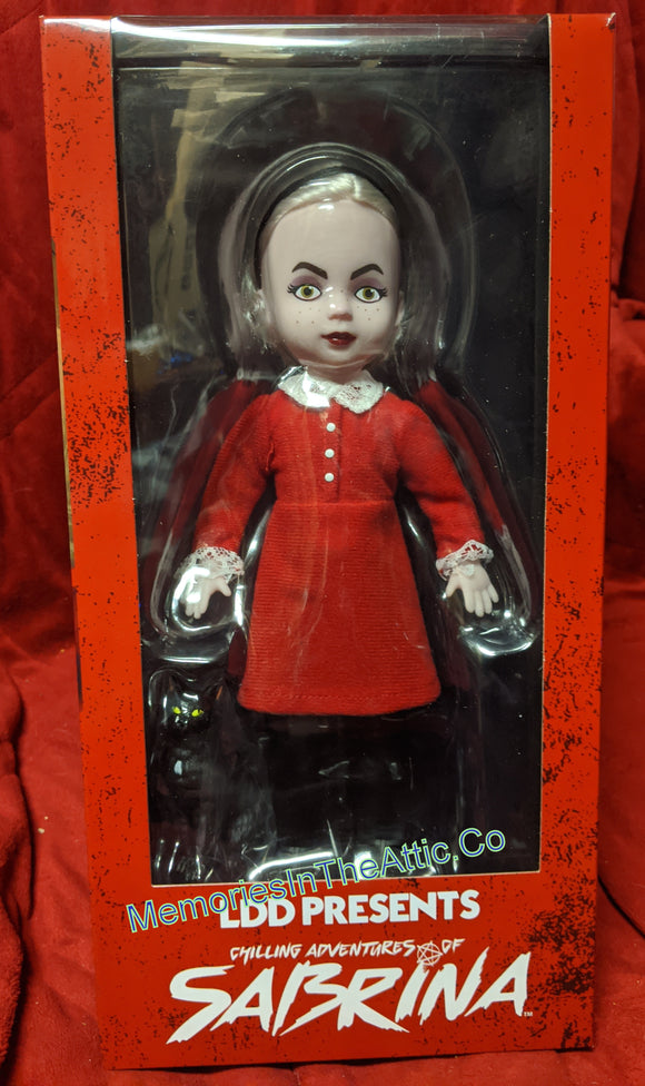 Living Dead Dolls Mezco Chilling Adventures Of Sabrina The Witch W/Cat Halloween10
