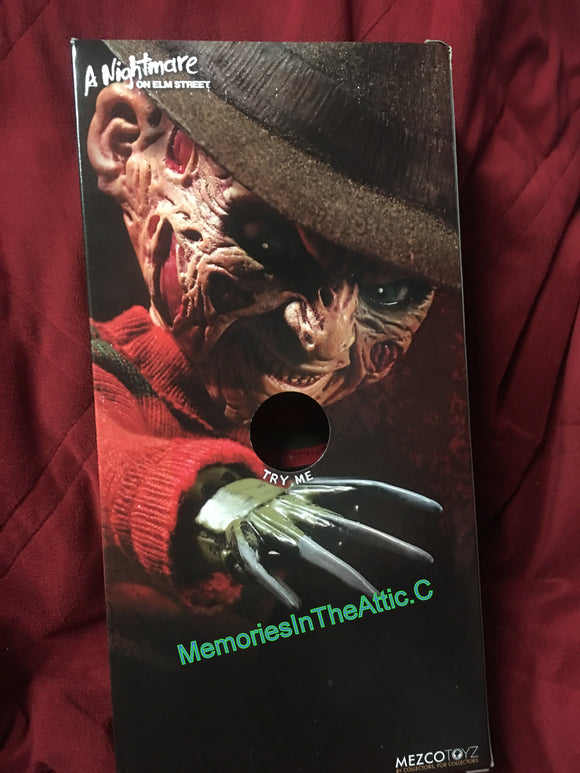Mezco Living Dead Doll Talking Freddy Kreuger A Nightmare On Elm Street 2018 LDD