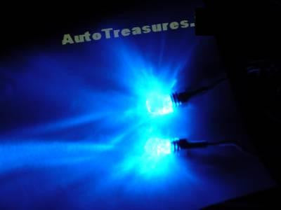 Skull Blue CLEAR Head Lighted License Plate Frame Screws Neon LED Hearse Car Truck Motorcycle