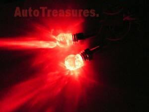 Skull RED CLEAR Head Lighted License Plate Frame Screws Neon LED Hearse Car Truck Motorcycle