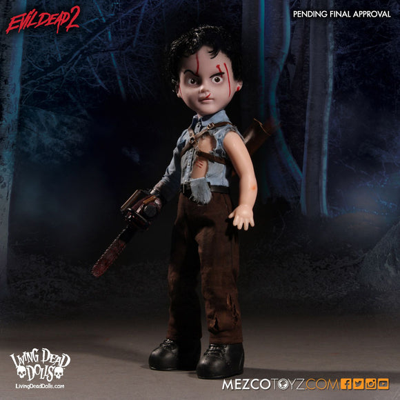 Living Dead Mezco Evil Dead 2 Ash  Army Of Darkness Necronomicon 10