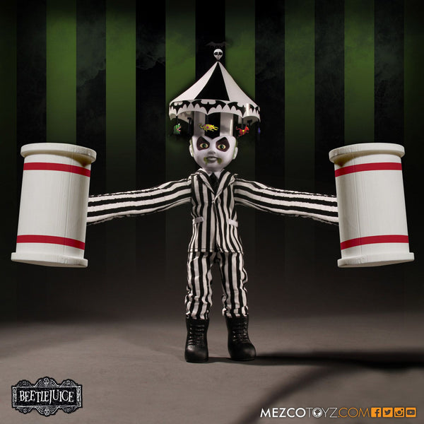 Living Dead Mezco Beetlejuice Showtime Doll Tim Burtons Michael Keaton