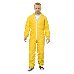 Breaking Bad Jesse Pinkman Yellow Hazmat Figure Mezco Toyz Blue Meth Figure