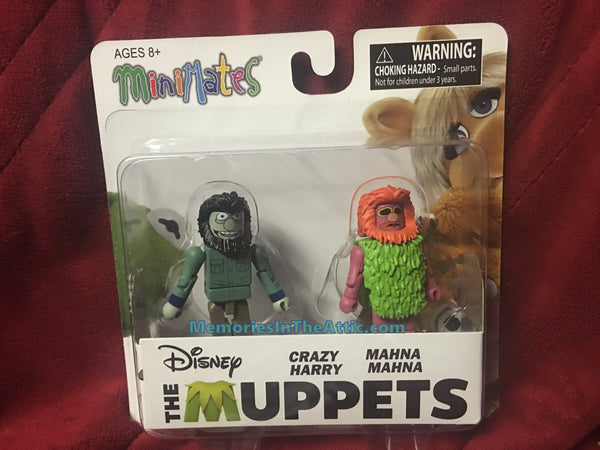 Disney Muppet Show The Muppets Minimates Series 2 Crazy Harry Mahna Mahna Figures Diamond