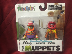 Disney The Muppets Minimates Dr Teeth Animal Drums Diamond Figures Show Series 2