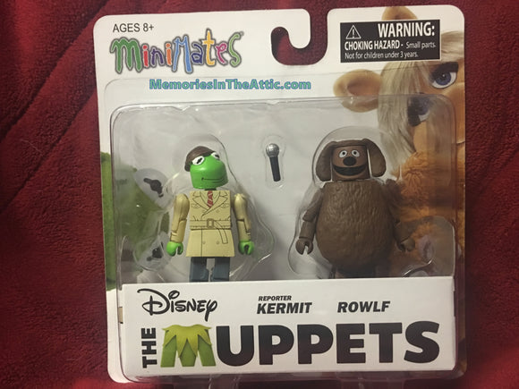 Disney The Muppets Minimates Series 2 Reporter Kermit Rowlf Dog Muppet Show Diamond