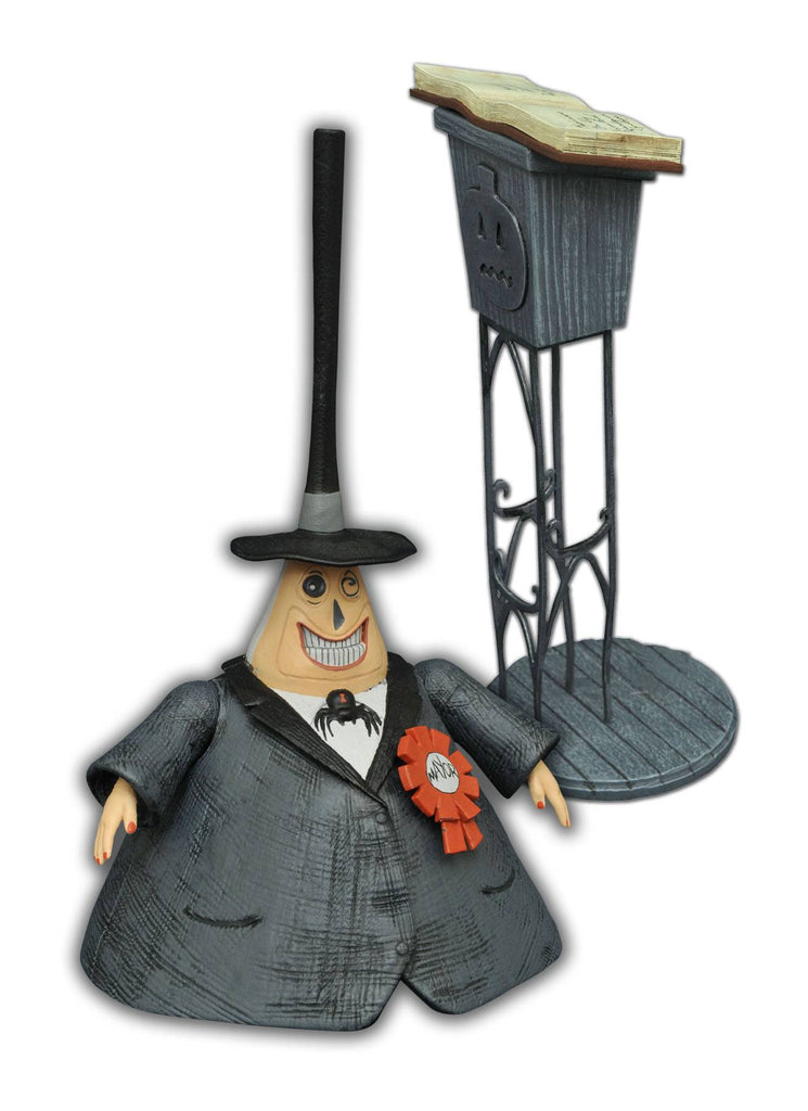 "Disney Nightmare Before Christmas Mayor 7"" Action Figure Diamond Select Toys Podium Stand S2 Cortes"