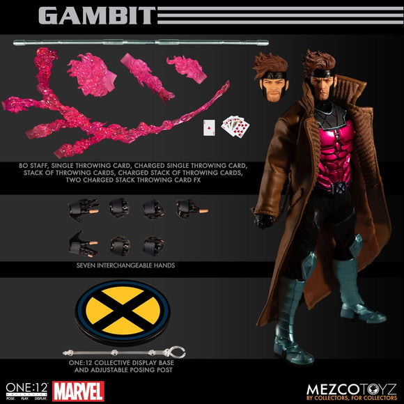 Mezco Toyz One:12 Collective Gambit X-Men Remy Lebeau Marvel Comic Action Figure
