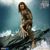 Mezco Justice League Aquaman One:12 Jason Momoa Quality Action Figure Trident 112