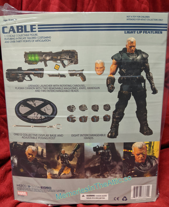 Mezco Toyz One:12 Marvel Cable Lighted Action Figure 1:12 Action Figure 112
