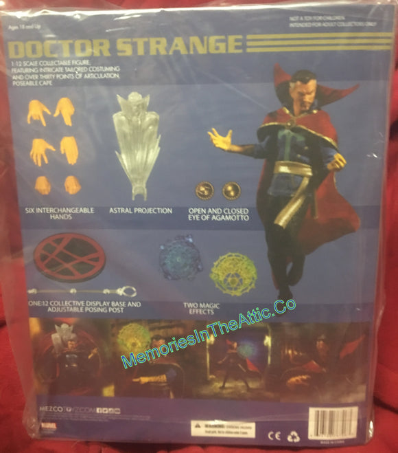 Mezco Toyz Dr. Strange One:12 Stephen Strange Quality Action Figure Eye Of Agamotto 112
