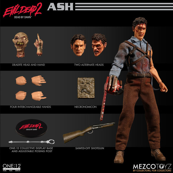 Mezco Toyz Marvel Evil Dead 2 Ash One:12 Quality Action Figure Army Of Darkness 112