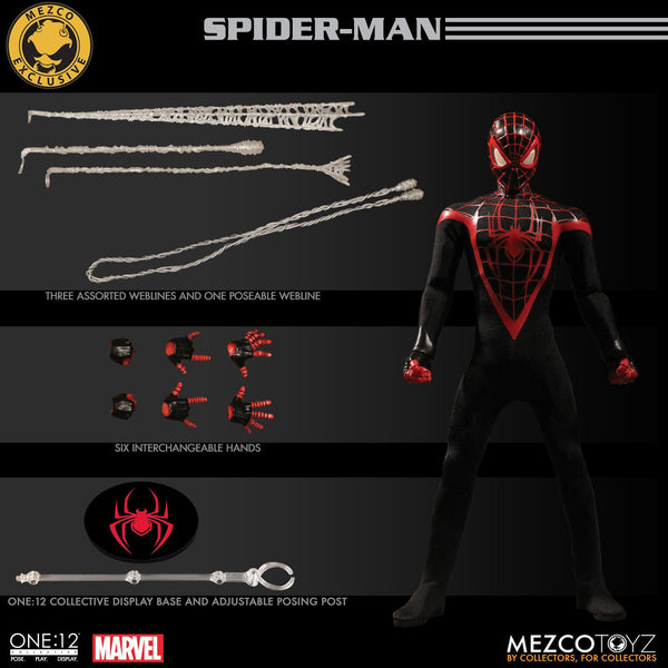 Mezco San Diego Comic Con Exclusive One:12 Spiderman Miles Morales Figure 1:12 Marvel 112