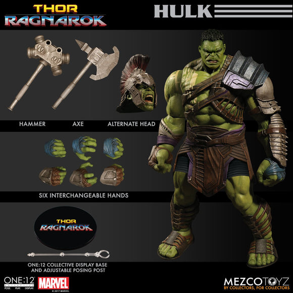 Marvel Comics Thor Ragnarok Armored Hulk 1:12 Action Figure Mezco Toyz One:12 112
