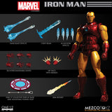 Mezco One:12 Collective Marvel Iron Man Tony Stark Lighted Reator Quality Action Figure 1:12 112