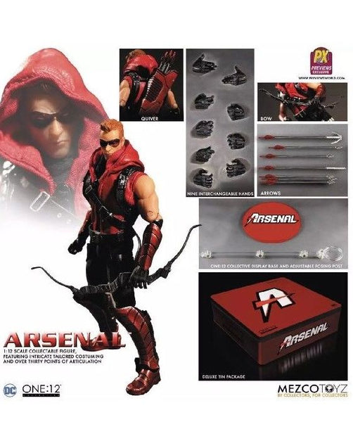 DC Comics PX Exclusive Green Arrow Arsenal Red 1:12 Action Figure Mezco Toyz One:12 112