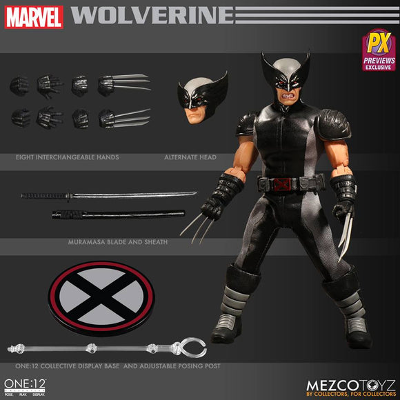 Mezco One:12 PX Preview Exclusive Wolverine Action Figure 1:12 Marvel Comics 112