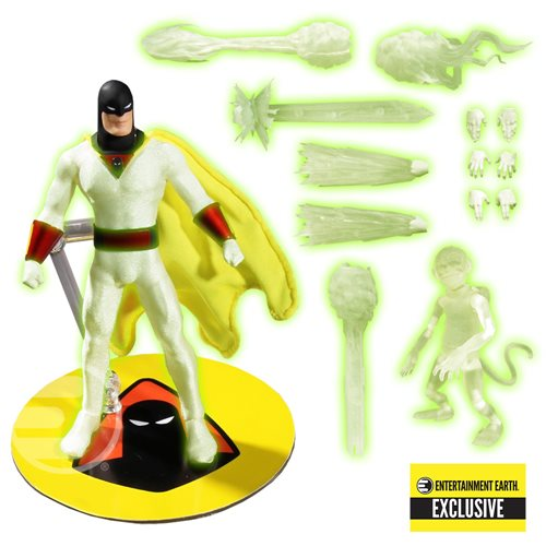 Mezco One:12 Space Ghost EE Exclusive Plus Blip Monkey Quality Hanna Barbera 112 Action Figure 1:12