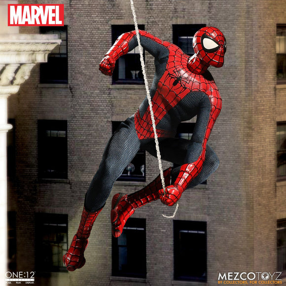 Mezco One:12 1:12 Marvel Comics Spiderman Quality Action Figure Webs 2 Heads 112