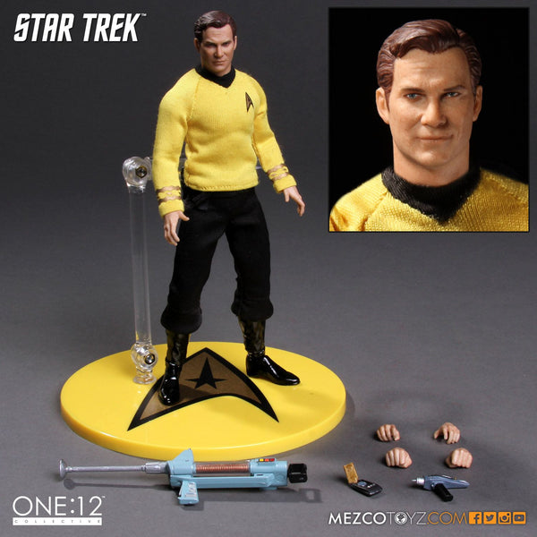 Mezco Star Trek Captain James T Kirk 1:12 One:12 Quality Action Figure 112