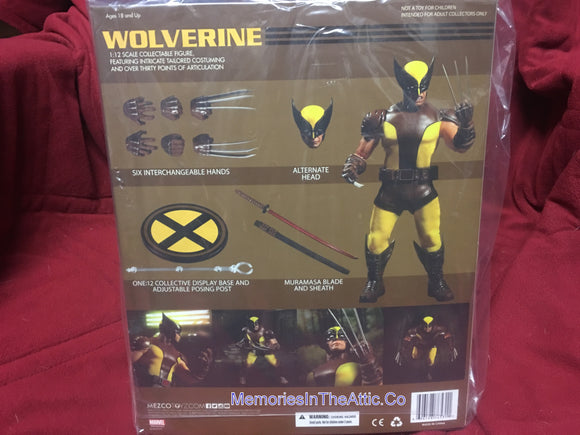Mezco One:12 Wolverine Quality Action Figure 1:12 Marvel Comics X-men 112